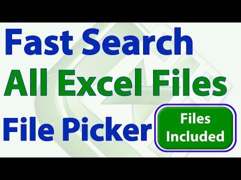 Fast Search Multiple Excel Workbooks using a File Picker Window