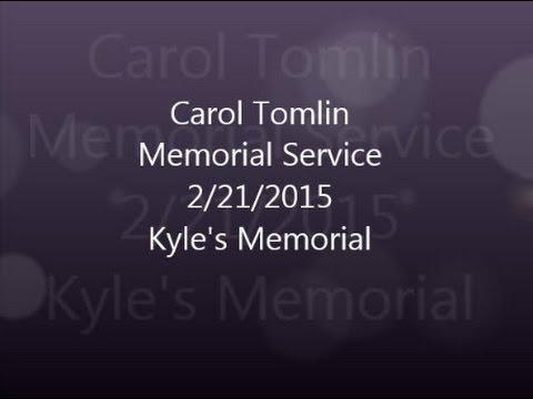 Carol Tomlin Memorial Service 2 Kyle Speech Feb 21, 2015