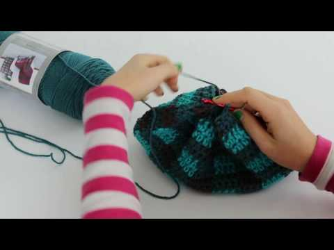 How To: Close a Slouchy Hat, bag hat, bottom to top hat, close top of beanie, tutorial