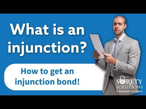 Court Injunctions & Injunction Bonds