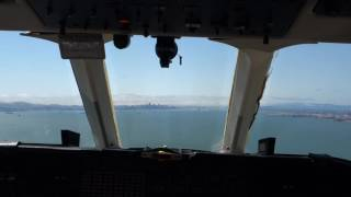 Cockpit view of a beautiful view of San Francisco