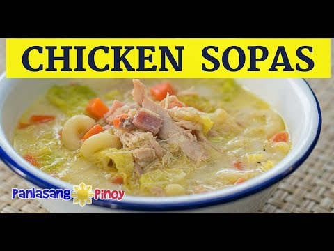 Filipino Chicken Macaroni Sopas