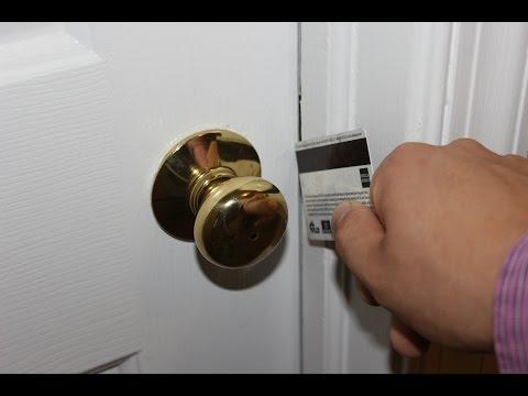 How To Credit Card a Door