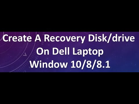 create a recovery disk on dell laptop