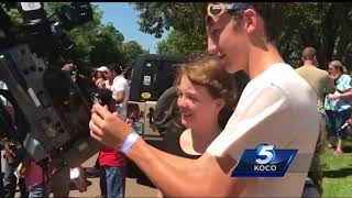 Man spends birthday at science museum with children to watch eclipse