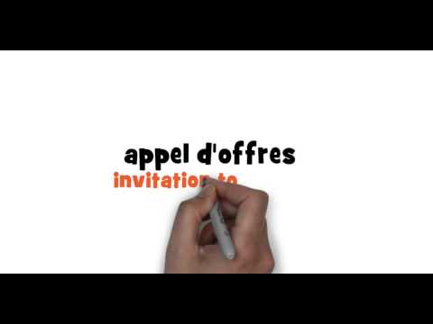 How to write invitation to tender in French