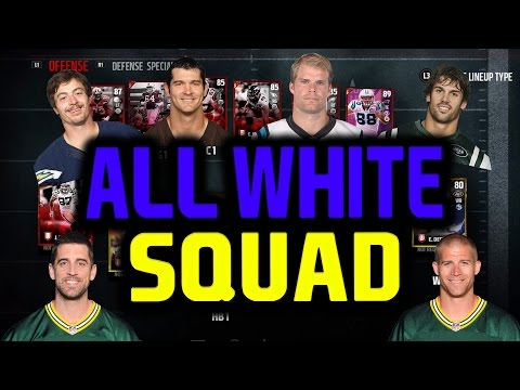 WHITE PLAYERS ONLY SQUAD BUILDER ! MADDEN 17 ULTIMATE TEAM