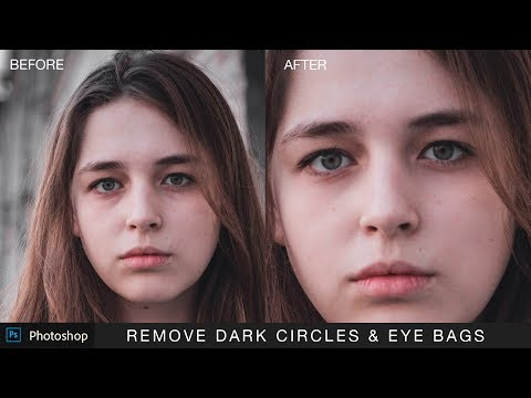 Photoshop Tutorial : Remove Dark Circles and Bags Under Eyes - Using Fade Selection Tool