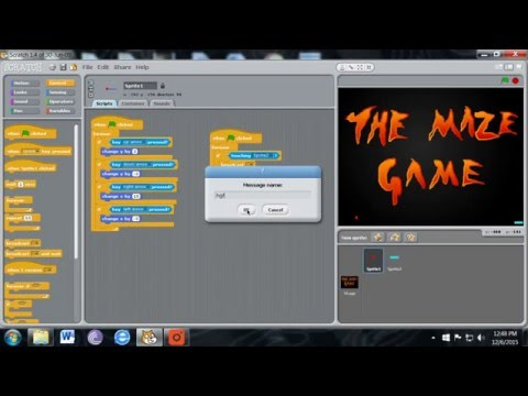 How to make a scary maze game using scratch