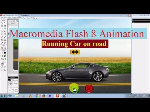 Macromedia Flash 8 Animation: Running Car on road