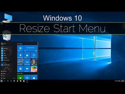 Resize the Start Menu - Windows 10