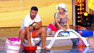 МУЖ И ЖЕНА - СЕМЕЙНЫЕ ПРИКОЛЫ на отдыхе – Дизель Шоу лучшее   ЮМОР ICTV
