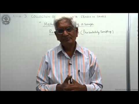 Collection of primary data ; census and sampling methods For CBSE Class 11 by S K Agarwala