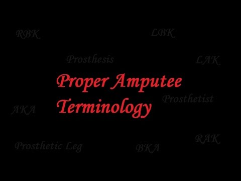 Proper Amputee Terminology