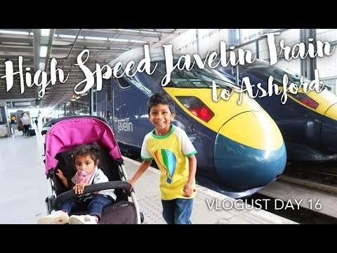 VLOGUST DAY 16 | High Speed Javelin Train Trip to Ashford Kent | Designer Outlet