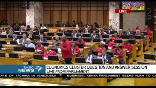 We won't ask you about Buhle, Shivambu assures Gigaba during Q&A