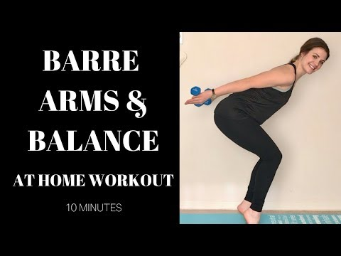 10 minute barre arm and balance workout