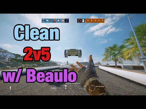 Clean 2v5 w/ Beaulo - Rainbow Six Siege