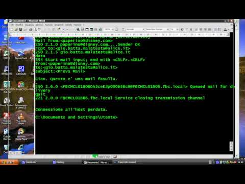 Inviare e-mail anonime con telnet (prompt dei comandi)