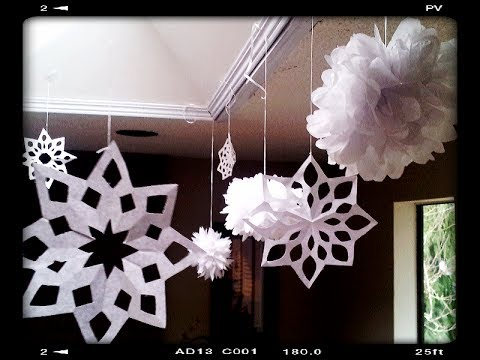 How to make Paper Snowflakes Easy & Quick Tutorial