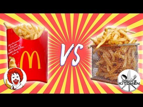 McDONALDS VS HOMEMADE - DIY McDonald's French Fries Recipe