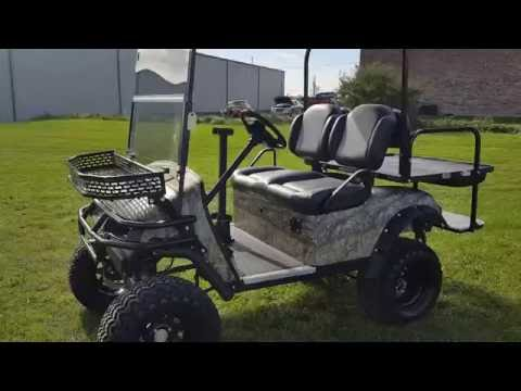 Ez Go TXT Electric Golf Cart Fully Custom Designed With Custom Tires, Rims, 4x4 & More