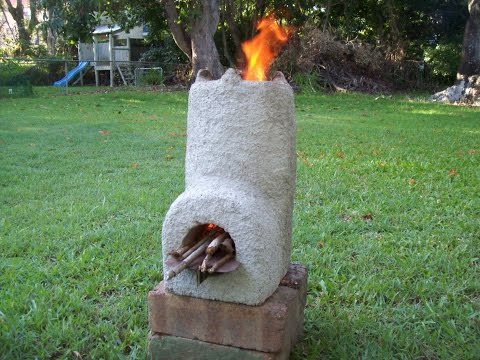Pumice Concrete Rocket Stove Heat Test