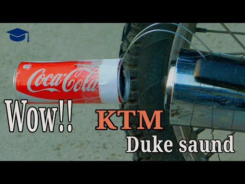 How to Make KTM Duke Exhaust Silencer Sound For Any Bike| Simple DIY TipS