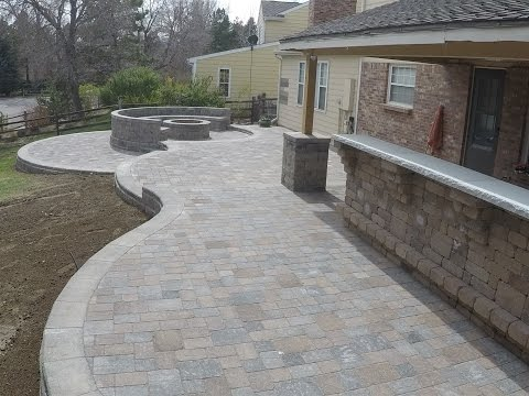 Paver Patio construction, time lapse, 400 man hours condensed to 5 minutes.