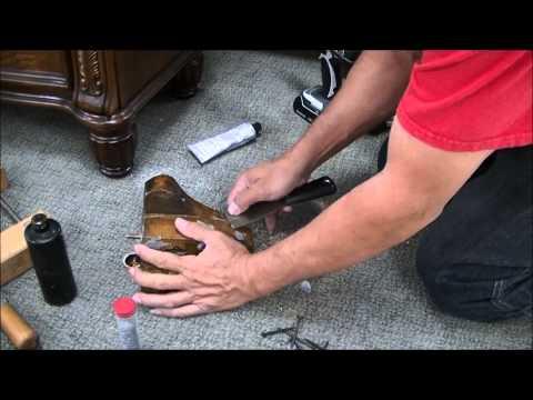 How to repair leg on sofa broken in half