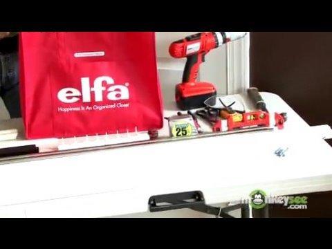 Closet Organization - Beginning Installation of Elfa Closet System