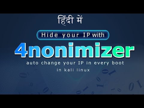 [Hindi] How to hide your real public IP address with anonymizer on Kali Linux
