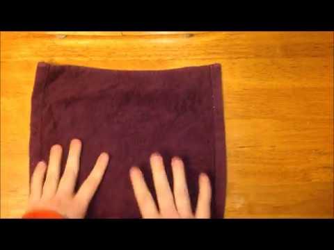 folded towel flower