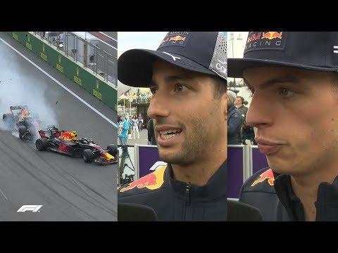 Ricciardo and Verstappen Explain Baku Crash   2018 Azerbaijan Grand Prix
