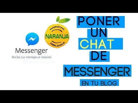 Como poner un chat de facebook en mi blog - Con el mejor chat Messenger