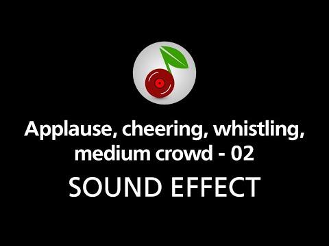 🎧 Applause cheering whistling medium crowd - 02 SOUND EFFECT