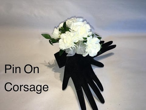 Quick Way To Make A pin On Corsage - How To Make A Wedding Or Prom 2017