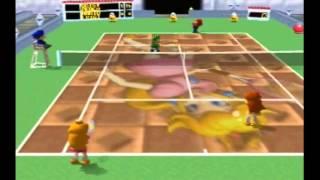 Mario Tennis N64: Daisy & Peach vs. Mario & Luigi (MAX CPU Level)
