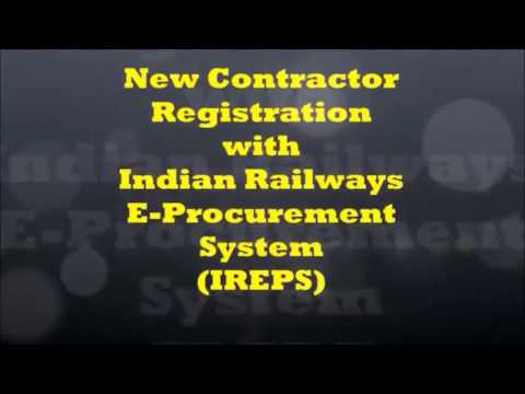 Process for contractors registration in indian railways EPS
