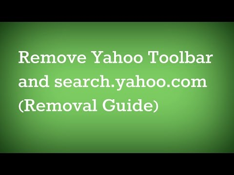 How To Remove Yahoo Toolbar and search.yahoo.com (Removal Guide)