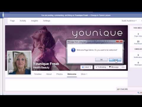 Add a Website tab to your facebook business page