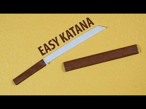 Easy Paper Katana (Origami Japanese Sword) 3.0 Tutorial - DIY (Henry Pham)
