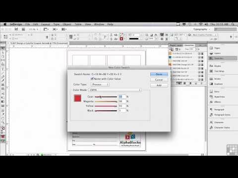 Adobe InDesign CS6 Tutorials | Swatches and Colors in InDesign | InfiniteSkills