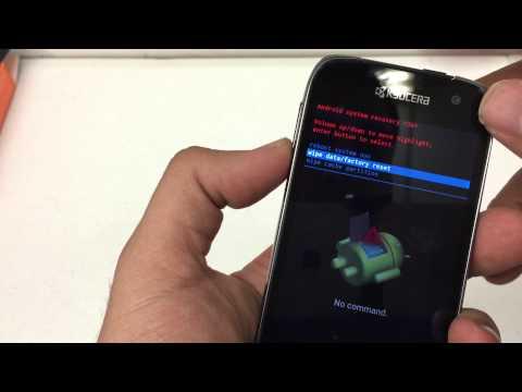 How to Hard Reset The KYOCERA Hydro Life Metro PCS Android 4.4