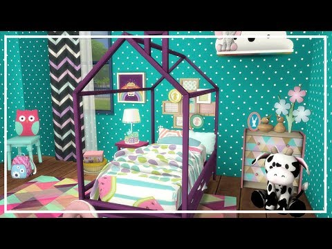 SIMS 4 TODDLER BEDROOM 💙 Room Build + Custom Content List