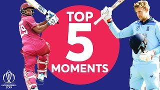 Root? Woakes? | England vs West Indies Top 5 Moments | ICC Cricket World Cup 2019