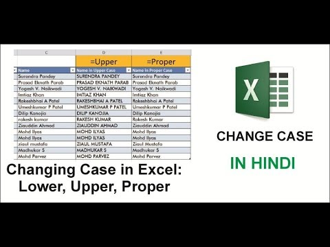 Learn Excel - Changing Case in Excel: Lower, Upper, Proper