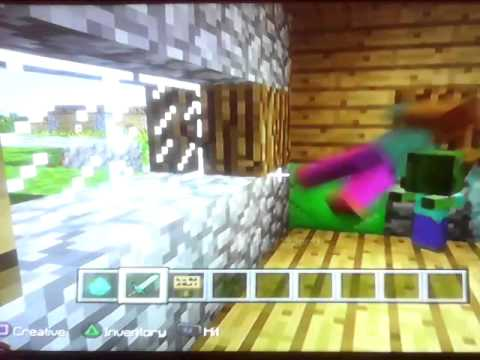 How make a zombie baby villager mine craft ps3