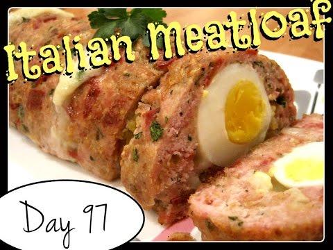 Italian Turkey Meatloaf Recipe [Food Challenge: DAY 97]