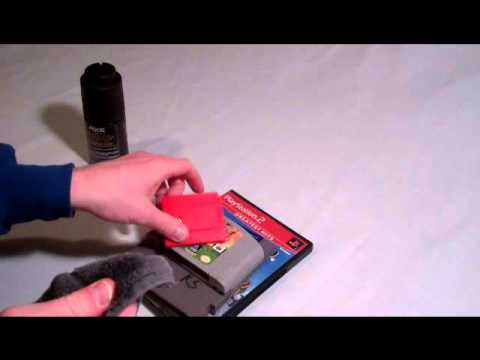 How to remove permanent marker off old video games or plastic
